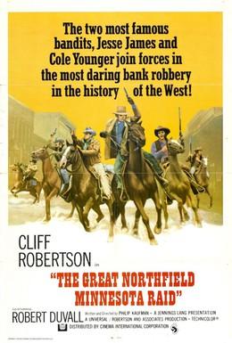 Постер фильма Великий налет на Нортфилд (1972)