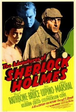 Постер фильма Приключения Шерлока Холмса (1939)