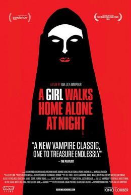 Постер фильма Девушка возвращается одна ночью домой (2014)