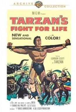 Постер фильма Смертельная схватка Тарзана (1958)